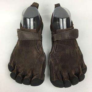 VIBRAM Fivefingers Brown Leather Sz 8/39